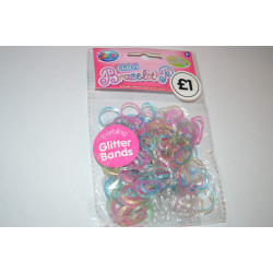 "Designer Loom Band Pack ""Glitter"" (250 Pieces)"