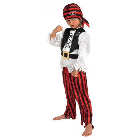 Rubie's Official Boy's Raggy Pirate Fancy Dress