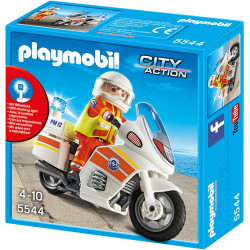 Playmobil City Action Coast Guard Emergency Motorbike