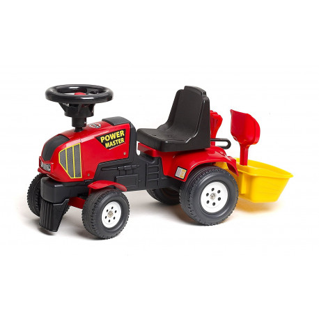 """Sodo traktorius """"Falk Power Master 1013 Ride-On Toy Baby Tractor with Bucket and Accessories (Red)"""""""