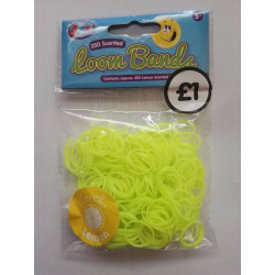 Designer Loom Band Pack Glow in the dark (250 Pieces)