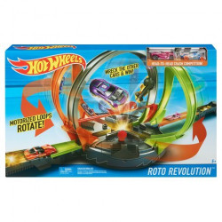 Hot Wheels Roto Revolution Track Set Kids Fun Racing Playset