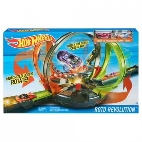 Lenktynių Trasa Hot Wheels FDF26 – Roto Revolution Track Set Kids Fun Racing Playset
