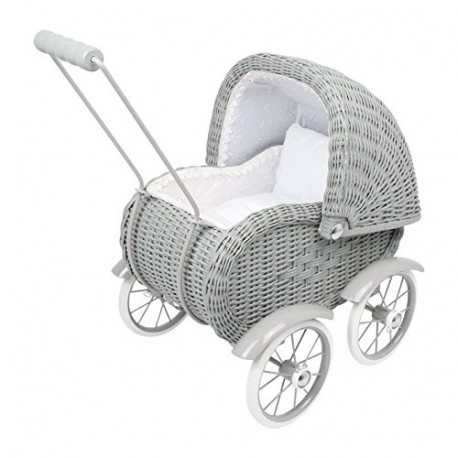 Vežimėlis Legler Gray Wicker Work Doll's Pram
