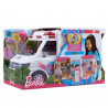 Barbie Ambulance, Folding Vehicle with Light and Sounds