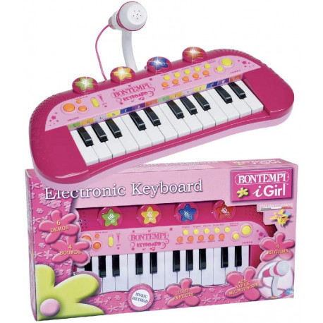"Sintezatorius ""Bontempi 0683002 24 Keyboard+mikr. rs, rosa"""